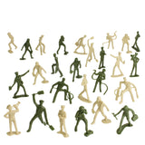 TimMee AIR FORCE Plastic Army Men - Green vs Tan 26pc Toy Soldier Figures - Made in USA