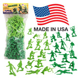 TimMee PLASTIC ARMY MEN: Green vs Green 96pc Soldier Figures Made in USA