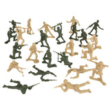TimMee PLASTIC ARMY MEN: Green vs Tan 100pc Toy Soldier Figures - Made in USA