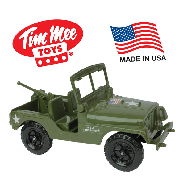 TimMee RECON PATROL M38 Military 4x4 - Olive Green Action Figure Size - Made in USA