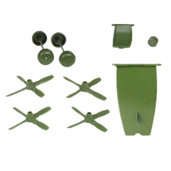 TimMee Plastic Army Men C130 Green Replacement Parts - Made in USA