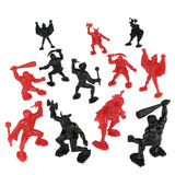 TimMee Legendary BATTLE Fantasy Figures - 3 inch Red vs Black 24pc Set - Made in USA