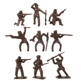 TimMee Davey CROCKETT Daniel BOONE Figures: 24 Frontiersman Pioneers Made in USA