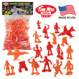 TimMee Galaxy Laser Team SPACE Figures: Red vs Orange 50pc Set - Made in USA