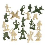 TimMee Galaxy Laser Team SPACE Figures - Tan vs Olive Green 50pc Set Made in USA