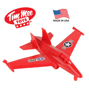 TimMee Plastic Army Men FIGHTER JET - Red 1:50 Scale Airplane - Made in USA