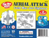 TimMee Plastic Army Men COLD WAR FIGHTER JETS - Light Gray Airplanes - Made in USA