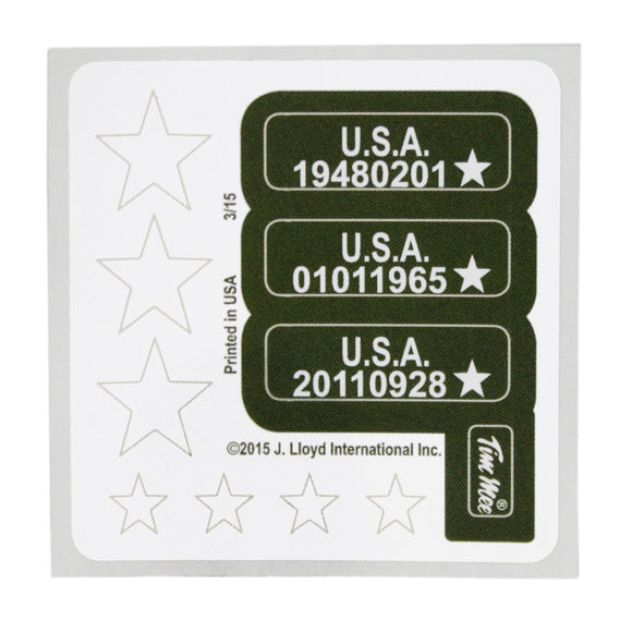 TimMee STARS and SERIALS Sticker Sheets: 110 Stickers - Made in USA