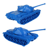 TimMee Toy TANKS for Plastic Army Men: Blue WW2 3pc - Made in USA
