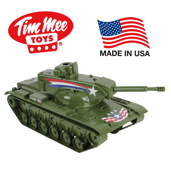 Tim Mee Dominator BIG TANK for Action Figures - 22in long Olive Green - Made in USA