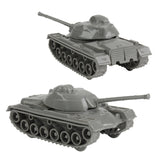 TimMee Toy TANKS for Plastic Army Men: Gray WW2 3pc - Made in USA