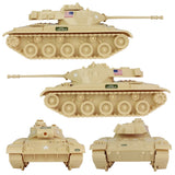 Tim Mee Toy Walker Bulldog TANK Playset- Desert Tan 13pc - Made in USA