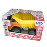 TimMee Big Plastic Dump Truck Orange Cab & Yellow Dump 15in - USA Made