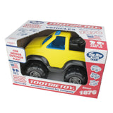 TimMee Big Plastic Tow Truck Yellow w/ Blue Interior 15in - USA Made