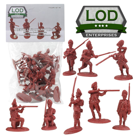 LOD Revolutionary War British Army Grenadier Soldiers - 16 Red 1:35 Figures