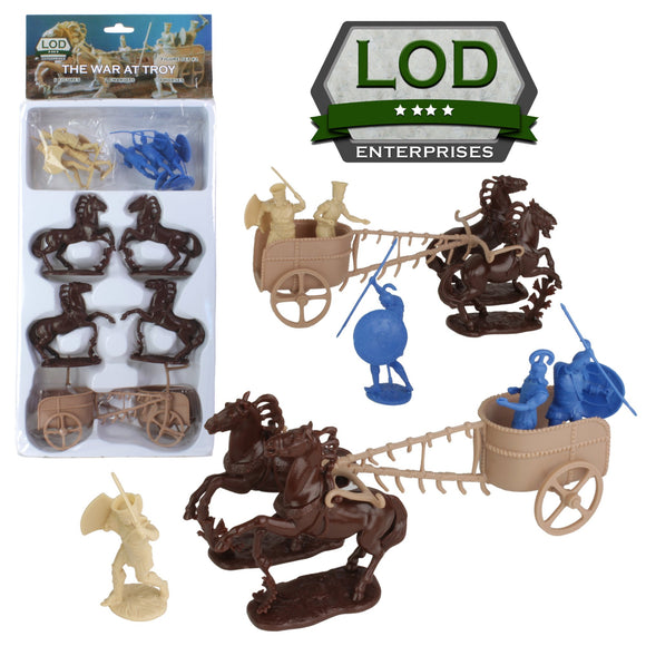 Greek and Trojan Chariots by LOD