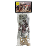TSSD CIVIL WAR Charging Cavalry: 16 GRAY 1:32 Plastic Horse & Soldier Figures