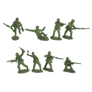TSSD WW2 United States Marines: 16 GREEN 1:32 Plastic Army Men Figures