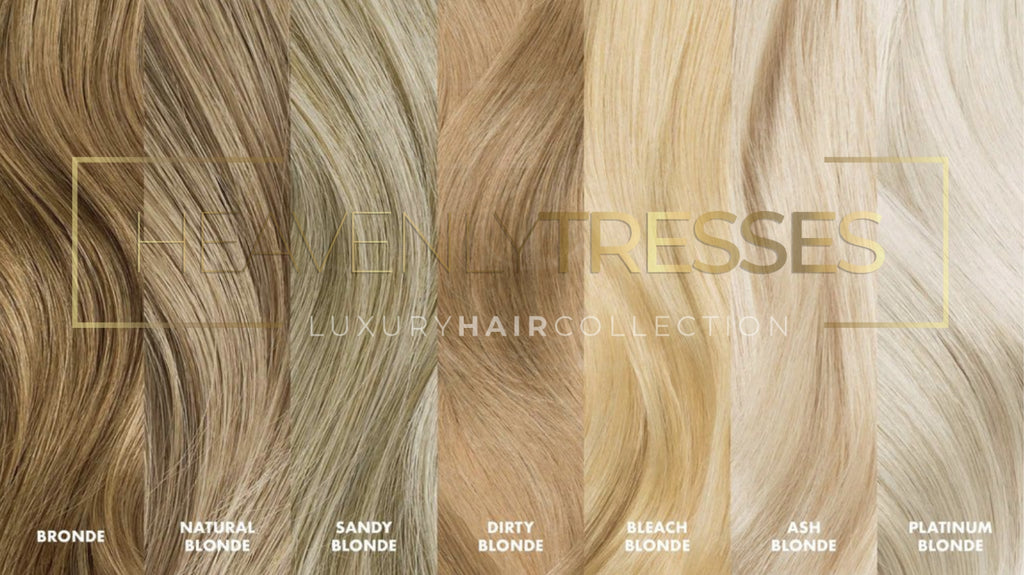 Blonde Wig Hair Color Chart
