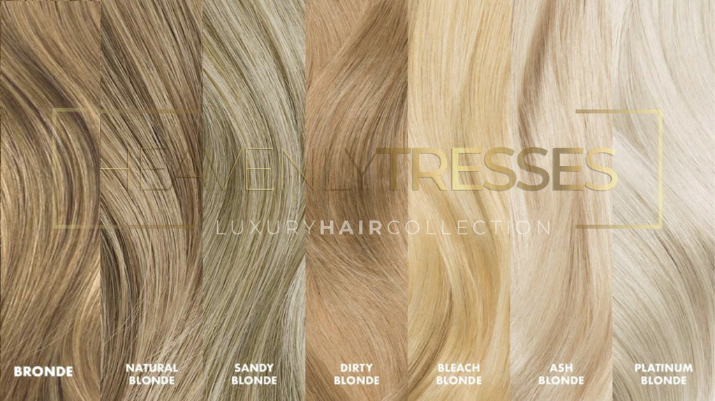 Blonde Human Hair Color chart