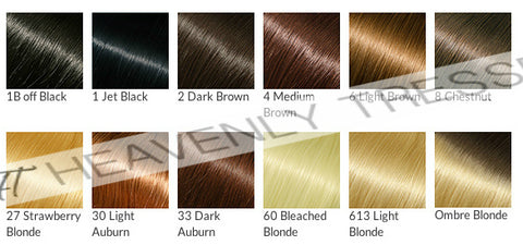 Hair Color Chart Custom Colored Lace Wigs Heavenly Tresses – Hair Color Chart