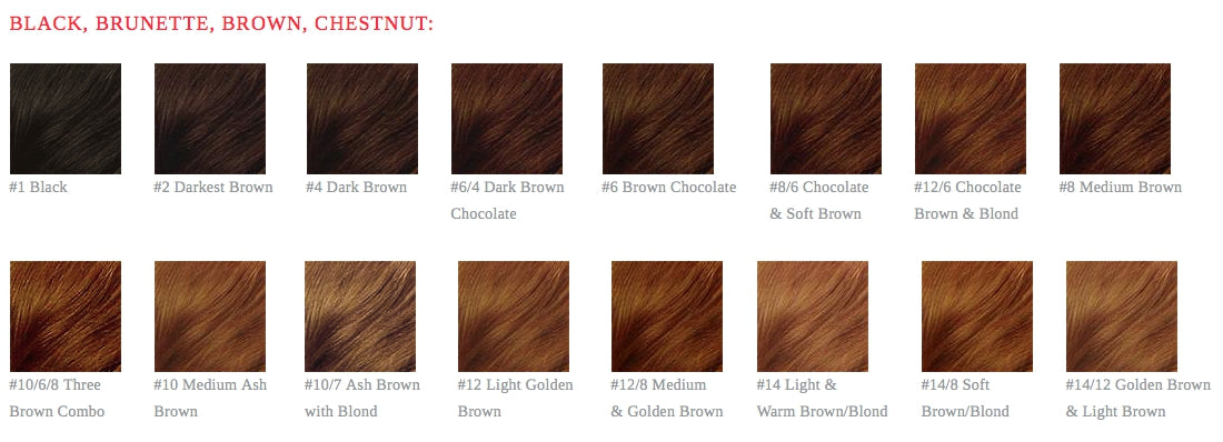 Hair Color Chart Custom Colored Lace Wigs Heavenly Tresses