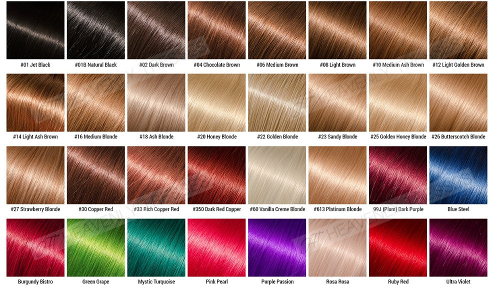Hair Color Chart| Custom Colored Lace Wigs – Heavenly Tresses