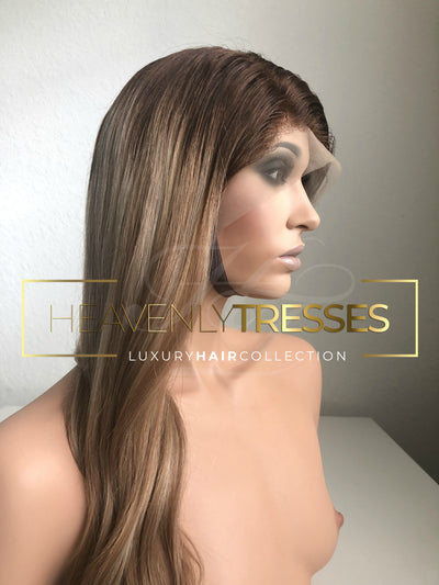 Blonde Balayage European Wig with transparent lace
