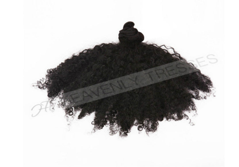Raw Unprocessed Double Drawn Kinky Curly Hair Extensions