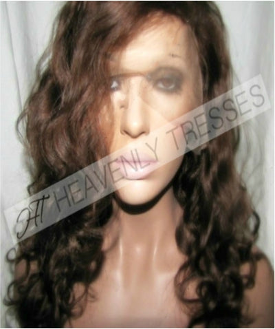 Copper Brown Full Lace Wig : Virgin Body Curl - TAMIA