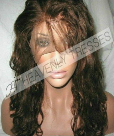 In-Stock Copper Brown #4 Virgin Body Curl Full Lace Wig Tamia By Heavenly Tresses