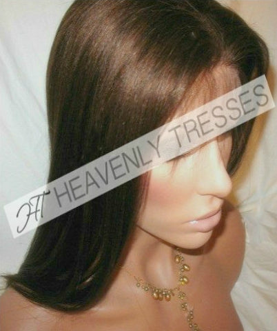 In-Stock Brown #4 Virgin Natural Straight Full Lace Wig Cassie By Heavenly Tresses