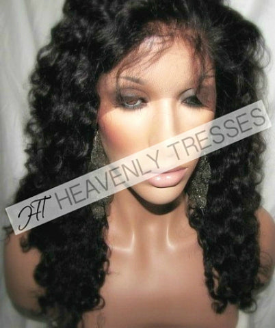 Virgin kinky Curly Full lace Wig