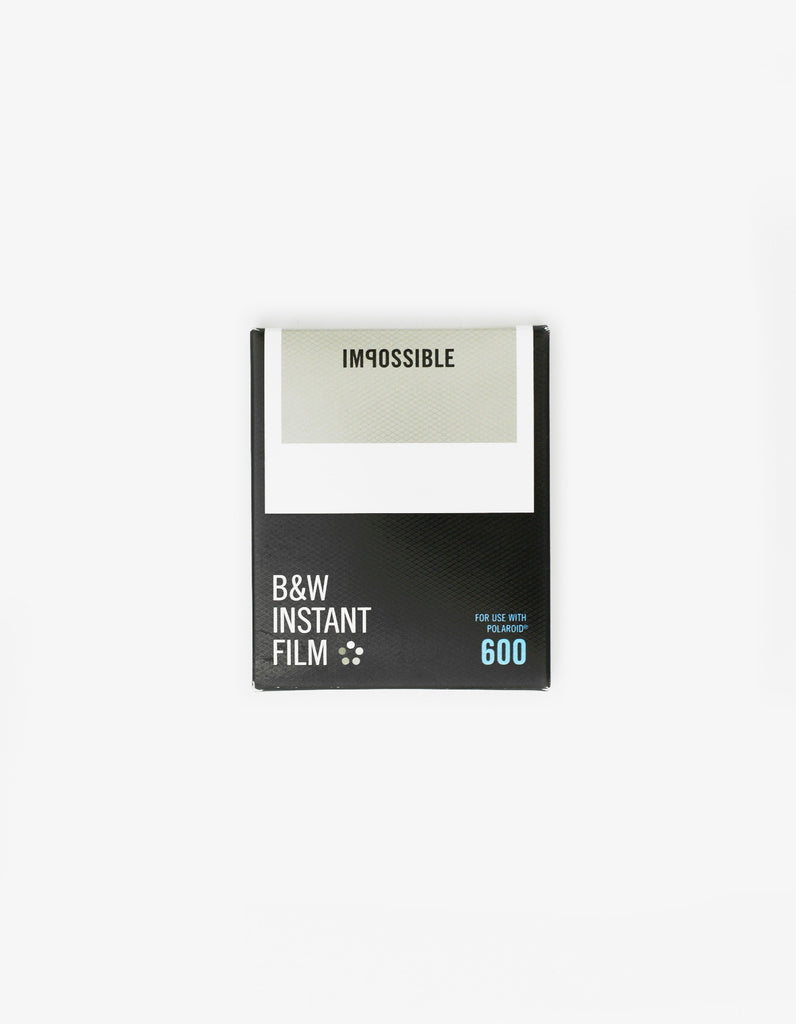 Impossible Black and white Film for Polaroid 600