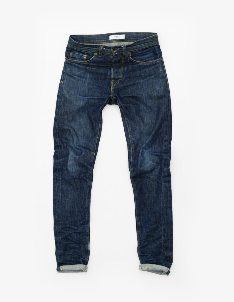 Noble Raw Denim washed tapered