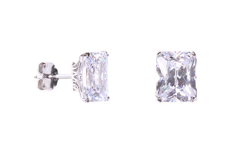 Crystal Clear Stud Earrings