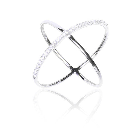 Contemporary Criss Cross Ring