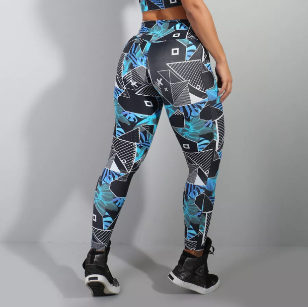 Geometric Print Leggings - YOGGINGS