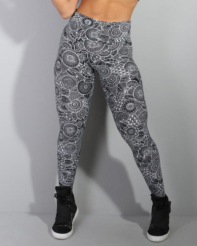 Black and White Leggings - YOGGINGS