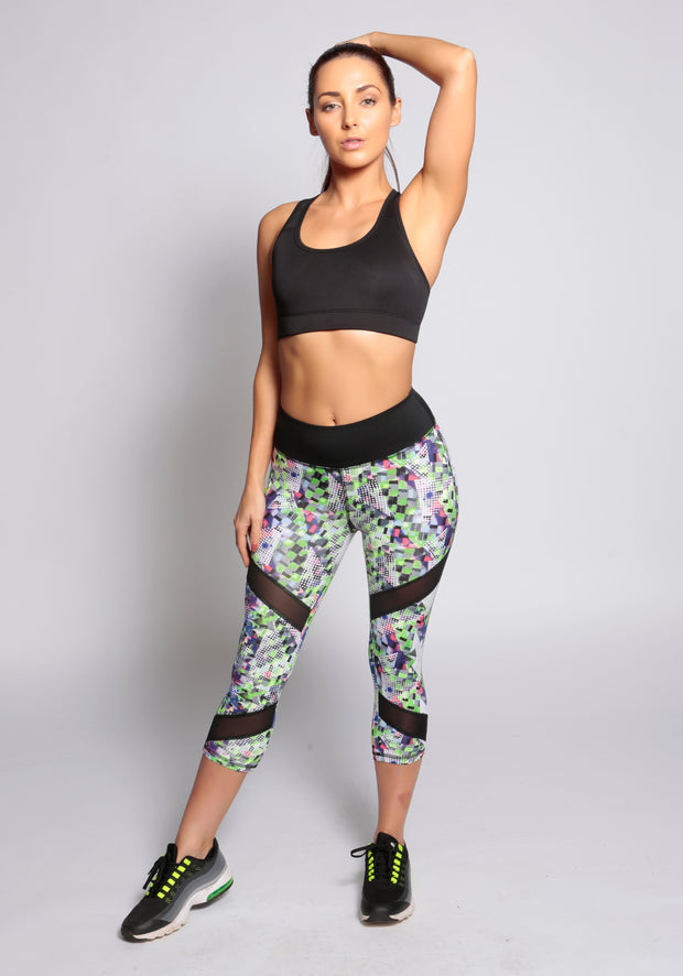 Mesh Cropped Leggings - YOGGINGS