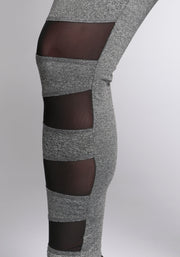 Front Mesh Panel Leggings