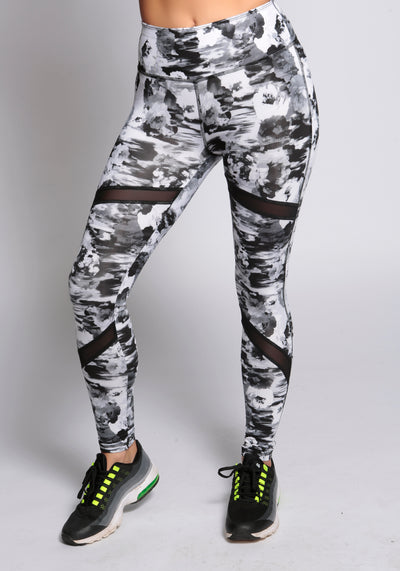 Printed Mesh Leggings - YOGGINGS