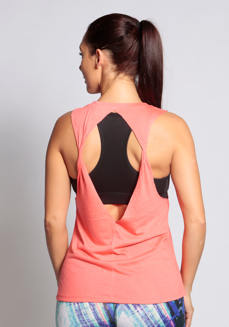 open back loose tank top