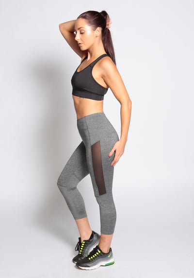 Side Mesh Leggings - YOGGINGS