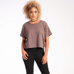 Caitlyn Cropped Tee - Stormie Dreams