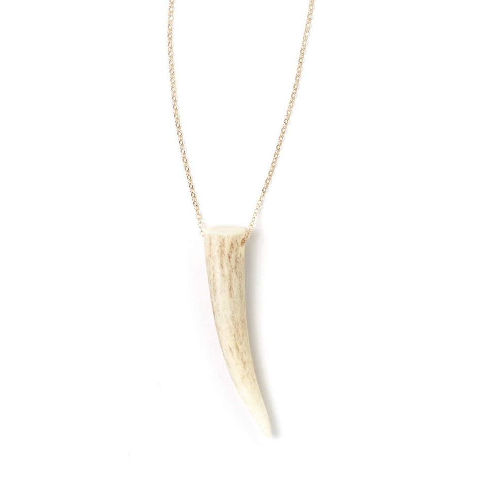 Classic Unembellished Antler Necklace - Tess + Tricia