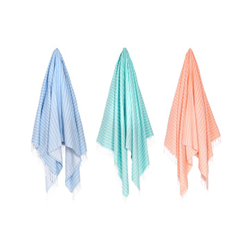 Organic Turkish Aqua  towel hanging cover