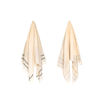 Organic Turkish Lagoon towel hanging cover