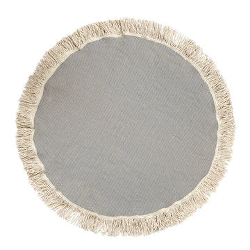 Organic Turkish Luxury Reve Silver Grey Roundie flat