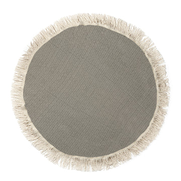 Organic Turkish Luxury Shore Dark Grey Roundie flat